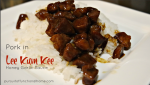 Pork in Lee Kum Kee Honey Garlic Sauce