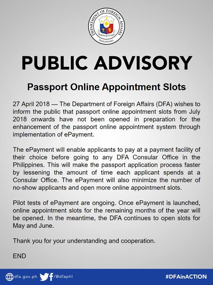 Tips In Gettiing An Appointment At Dfa 2018